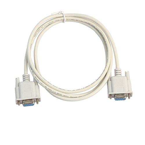 SODIAL 1 Stueck 5ft F/F Serielle RS232 Null Modem Kabel Weiblich zu Weiblich DB9 FTA Kreuz Verbindung 9 Pin Daten COM Kabel Konverter PC Zubehoer - Db9-verbindung