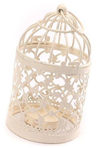 DaoRier Voliere Vogelkäfig Wellensittichkäfig Bird Vogelhaus Vogelbauer Papageienkäfig Metall Metallteelicht Lantern House Hochzeit Tischdekorationen 14cm*8cm (1 Stück)