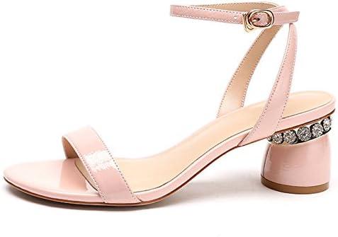 Sandalias De Mujer Tacón Alto Palabra Hebilla Zapatos De Cuero Moda Salvaje Vestido