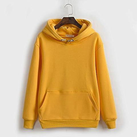 Xuanku Plus Épais Velours Sweater, Même Cap Chers Timbres Vrac Enduire L'Automne Et L'Hiver ,Xxl, Le Curcuma