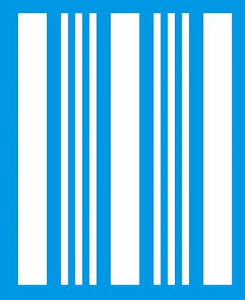 Preisvergleich Produktbild 21cm x 17cm Flexibel Kunststoff Universal Schablone - Wand Airbrush Möbel Textil Decor Dekorative Muster Design Kunst Handwerk Zeichenschablone Wandschablone - Streifen