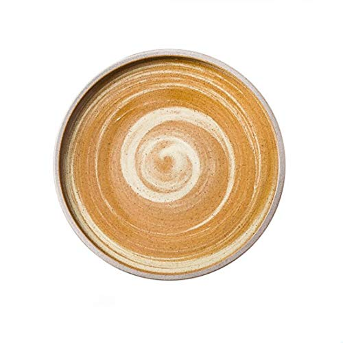 Cubiertos y Platos Rough Ceramica Platos Occidentales Antiguos De Vajilla Vajilla Platos Creativos Pangu Plato Bandeja Bandeja,Un