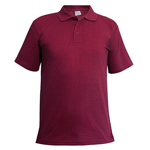 Metzuyan Ltd Mens Polo Shirt Classic Plain Big and Tall Plus Size T-Shirts