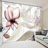 Yifengjubao Vorhänge 3D-Vorhänge 3D-Blumen Schalldämmung Wärmedämmung Schattierung Hauptdekor-Schlafzimmer 2 Panels,Width150*High166cm(Width75*2)