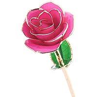 d.b 24K Gold Dipped Real rose fiore regalo di compleanno, regalo di mamma, San Valentino, anniversari, regalo scelta migliore per fidanzata Pink