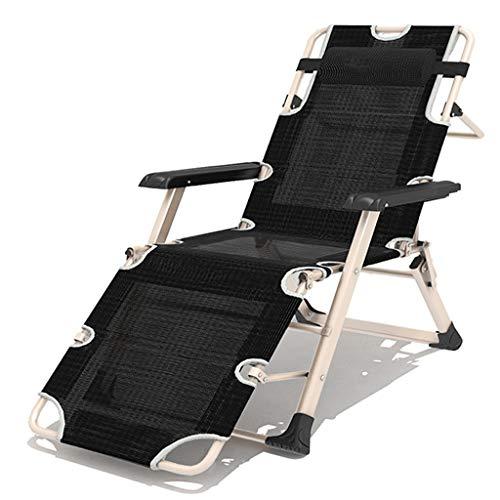 Fauteuil de terrasse de repos extérieur pour chaises de patio, fauteuil inclinable pliant réglable en textile résistant aux intempéries pour piscine (Couleur : Chair, taille : 185cm)