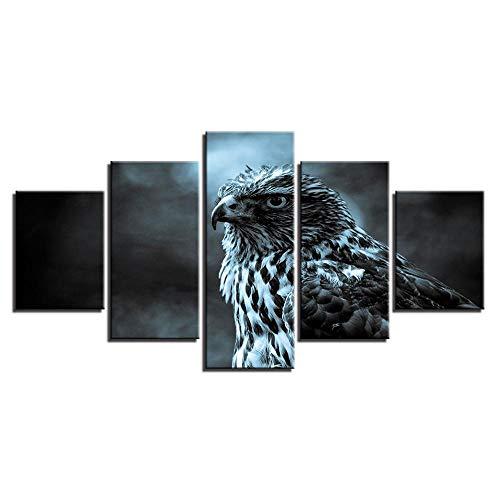 Wandgemälde Wand-Kunst auf Leinwand modern Home Schlafzimmer Wohnzimmer Raum Sofa Art Tier Eagle dekorative Malerei Grafik-Art Deco -