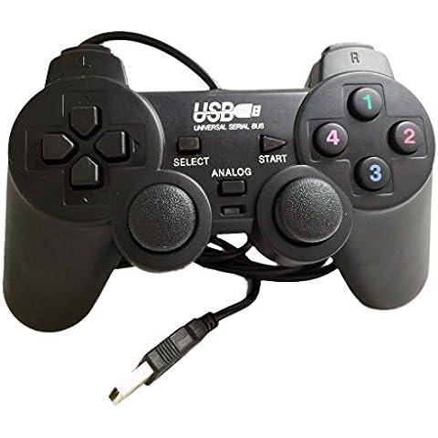 PC del Choque Palanca de Mando del Joypad USB Gamepad Juego para Ordenador Portátil