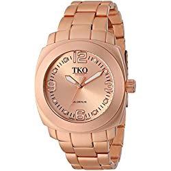 TKO ORLOGI Women's TK620RG Rose Gold Aluminum Bracelet Watch