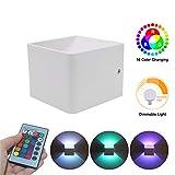 Wokee Wandleuchten LED 3W Aluminium Bunte RGB Licht Dekoration, LED Wandleuchte außen Wandlampe Wasserdicht mit Lagerraum und usw,85V-260V, 4