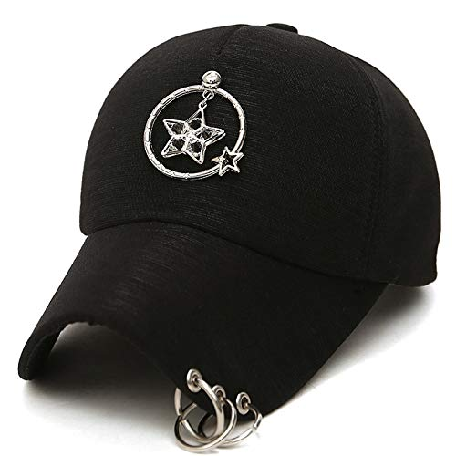 zhuzhuwen Koreanische Version der Baseballmütze Sommer Paar Outdoor-Mode Sterne Dekorativer Hut Weiblicher Hut 1 One Size