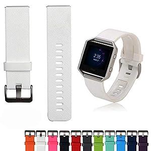iFeeker weiche Silikon Ersatz Sport Intelligent Uhrenarm Armband Handgelenk Gurt für Fitbit Blaze Intelligent Fitness Uhren