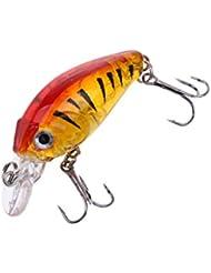 Gazechimp Leurres Dur de Pêche Plastique Appâts Minnow Bass Crankbaits Truite Accessoires