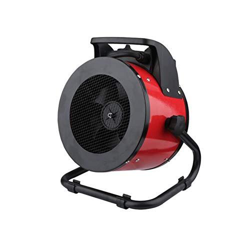Radiateurs électriques CJC Électrique Ventilateur Chauffe-Eau Plus Chaud Thermostat Silencieux Imperméable 3 La Vitesse Accueil Chambre Vivant Pièce Rouge (Taille : 26 * 19 * 28cm/2000w/1000w/80w)