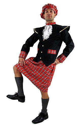 Kostüm Schotte Kilt Braveheart Highlander Herren Gr. 52 (Schotte Kostüm)