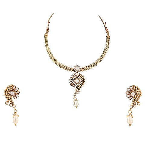Pearl set bridal traditional imitation jewellery sets fashion necklace set BANE0327WH