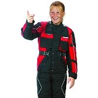 Roleff Chaqueta de Motorista para Niños Racewear, Negro/Rojo, XXL/164
