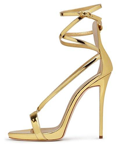 bbced1e240eca0 Amy Q Estate Open Toe Ankle Strap fibbia tacco alto gladiatore sandali  delle donne per il