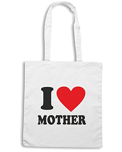 T-Shirtshock - Borsa Shopping T0540 i love mother Bianco