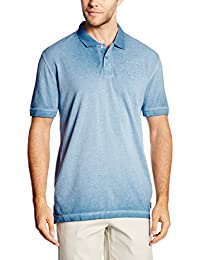 TOM TAILOR Herren Poloshirt Overdyed Polo with Chest Badge