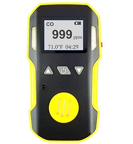 FORENSICS Kohlenmonoxid Co Messgerät | Ton, Licht und Vibration Alarm | 0-1000 ppm -