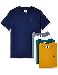 Amazon Brand - Symbol Men's Cotton Round Neck T-Shirt (Pack of 5)