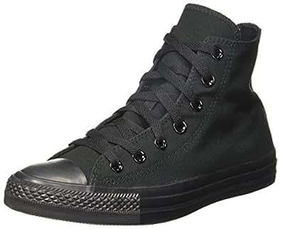 Converse Unisex's Mono Black Sneakers - 10 UK/India (44 EU) (150757C)