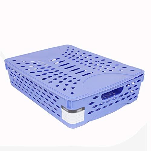Desktop-Aufbewahrungsbox mit Deckel-Datei-Korb Multifunktions-Box für die A4-Ablage aus Kunststoff (Datei-boxen Mit Deckel)