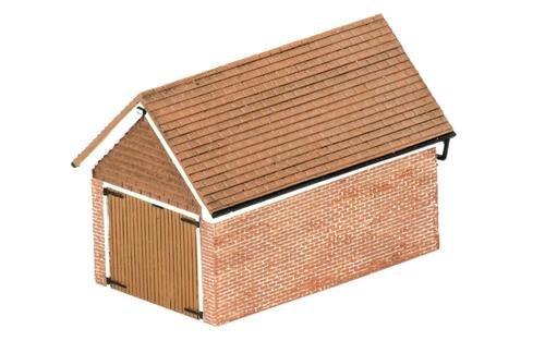 Hornby r9826abgesetztem Brick Garage