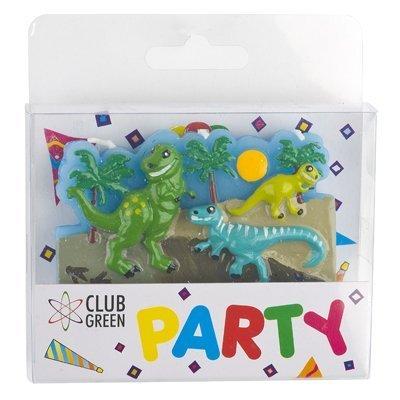 """Club verde """"dinosaurio"""" candle stick, verde, 12unidades"""