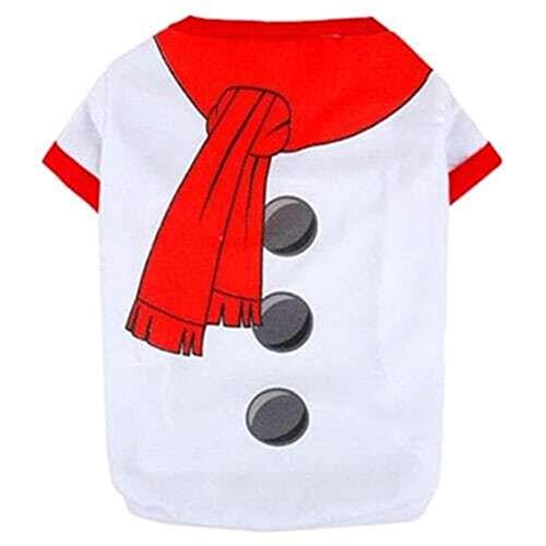 Yangyme Kleidung für Haustiere, klassisches Weihnachts-Kostüm, Baumwoll-Material,