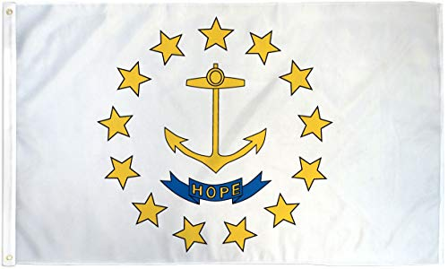 3x5 Rhode Island Flag State Banner RI Pennant New Indoor Outdoor 3 by 5 Foot -