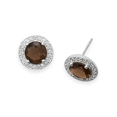 Smoky Quartz Espresso Earrings