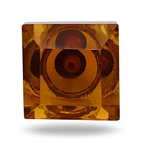 Square Glass Big Amber Knob Helena Kitchen Cabinet Cupboard Door Knobs Home Decor Drawer Pull & Handle for Closet Wardrobe Dresser By