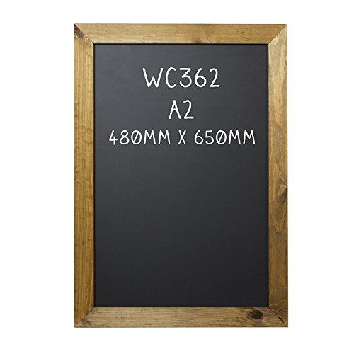 Chalkboards UK - Lavagna in formato A2, con cornice 650 x 480mm - Rovere Telaio Lavagna