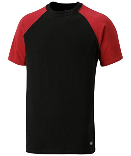 Dickies T-Shirt Two Tone SH2007, Größen, optimale Passform, Passend zur Everyday 24/7 Kollektion 2017 (XL, Schwarz/Rot)