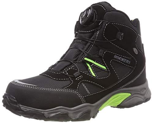 Dockers by Gerli Unisex-Kinder 43WR702 Hohe Sneaker, (Schwarz 100), 32 EU