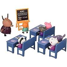Peppa Pig en el cole con amigos incluye 7 figuras y 3 pupitres 30.5 x 17.8
