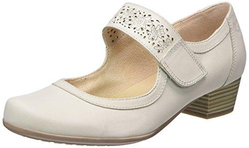 Leder-walking-mary Janes (Caprice Damen 24300 Geschlossene Sandalen mit Keilabsatz, Grau (LT Grey Nubuc), 39 EU)