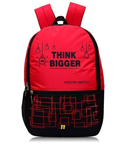 Adamson President 32 LTR Black and red Casual Backpack l bagpack l College Bag