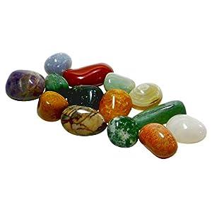 Echte Halbedelsteine – 12 Stück gemischt mit Spielanleitung