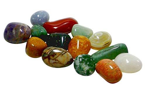 Echte Halbedelsteine - 12 Stück gemischt mit Spielanleitung -