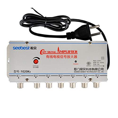 Seebest SB-1020K6 1 In 6 Out CATV-Kabel-TV-Videosignalverstärker AMP Booster-Splitter-Verstärker Tv-splitter-booster