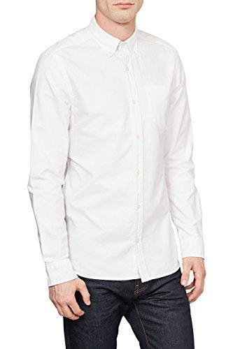 next Homme Chemise Oxford À Manches Longues Blanc