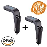 Captcha Pack of Two Bluetooth FM Transmitter Hands Free Wireless Car G7 +