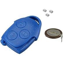 Kit de reparación de Cerrajero de automóviles para Ford Transit Connect MK7 3 Botones Azul Llave
