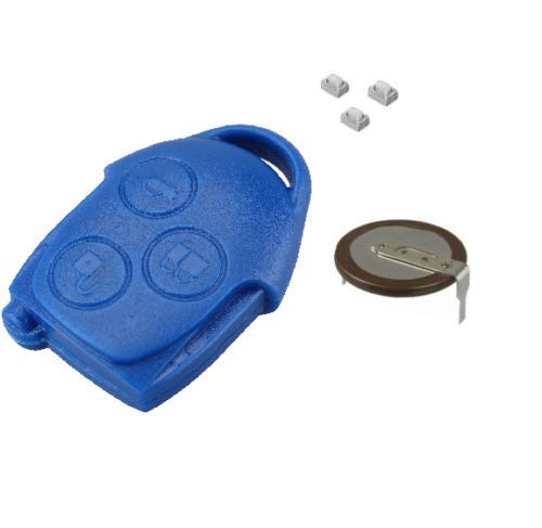 Reparatur-Set für Ford Transit Connect MK7 3 Tasten Blau Fernbedienung Schlüssel Batterie VL2330 Schalter Gehäuse Gehäuse