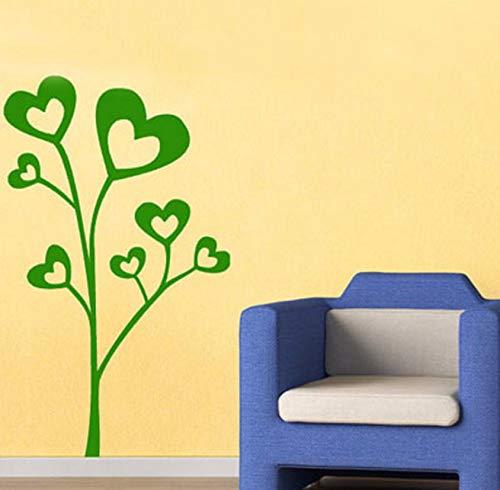 Dalxsh Heißer Verkauf Artikel Schöne Herzförmige Blätter BaumWandaufkleberDekorationWandkunst 44X47 Cm