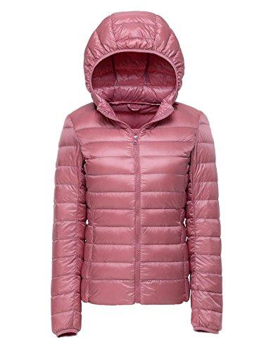 CHERRY CHICK Women's Packable Hooded Down Jacket , Größe XS / 34 / Herstellergröße M, Farbe Rose Pink