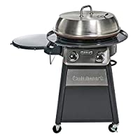 ‏‪Cuisinart CGG-888 Grill Stainless Steel Lid 22-Inch Round Outdoor Flat Top Gas, 360° Griddle Cooking Center‬‏